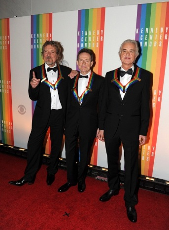 Recipient of the 2012 Kennedy Center Honors band Led Zeppelin attend the Kennedy Center Honors gala in Washington